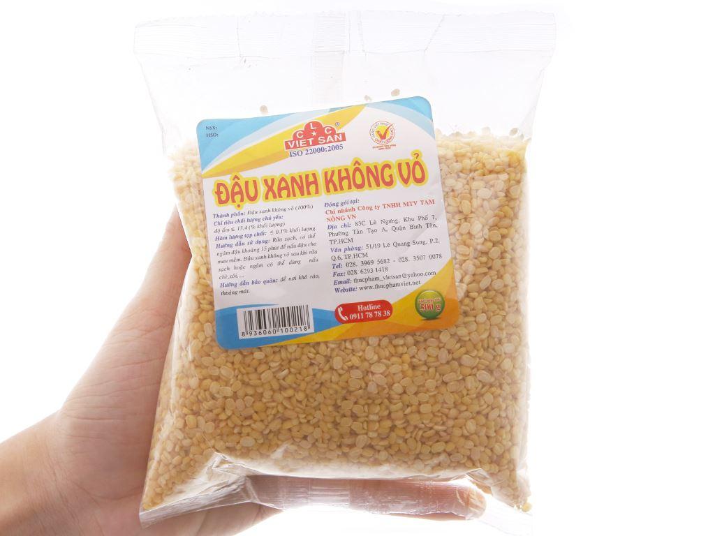 Đậu xanh không vỏ Việt San gói 500g 2
