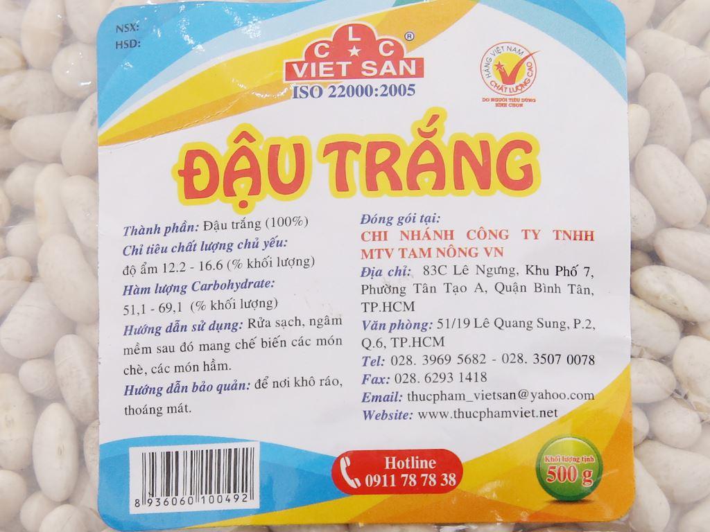 Đậu trắng Việt San gói 500g 4