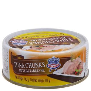 Cá ngừ ngâm dầu xắt khúc Sea Crown hộp 140g
