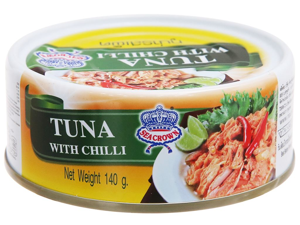 Cá ngừ sốt ớt Sea Crown hộp 140g 1