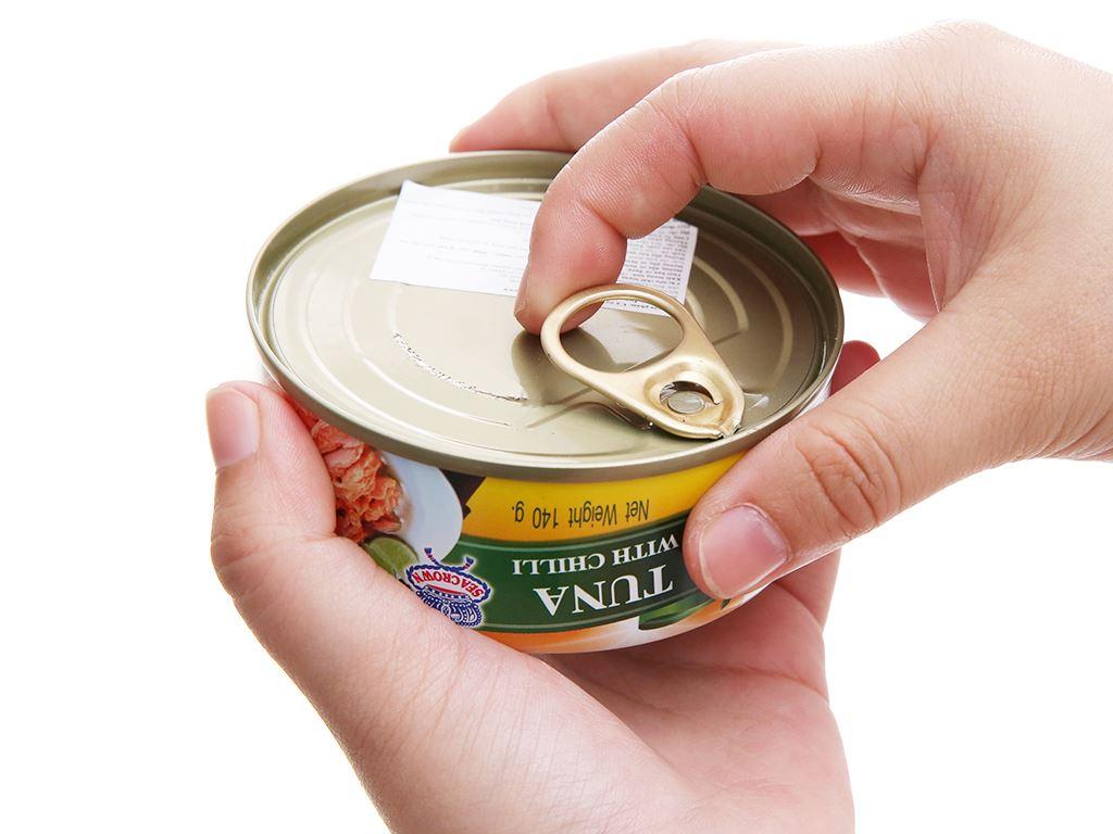 Cá ngừ sốt ớt Sea Crown hộp 140g 4