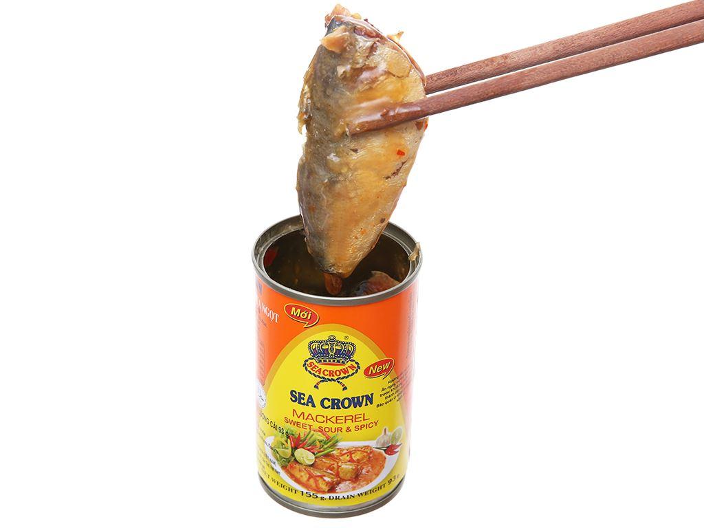 Cá nục sốt ớt chua ngọt Sea Crown hộp 155g 4
