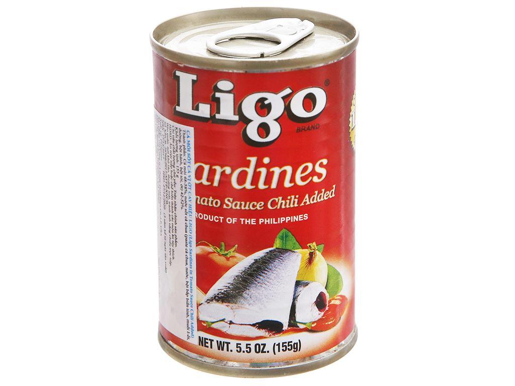 Cá mòi sốt cà vị ớt cay Ligo hộp 155g 1