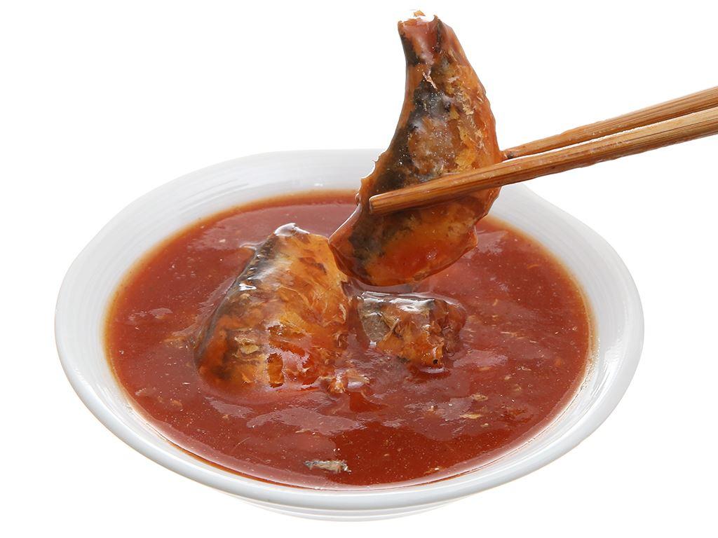 Cá mòi sốt cà vị ớt cay Ligo hộp 155g 5