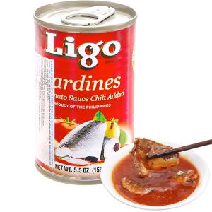 Cá mòi sốt cà vị ớt cay Ligo hộp 155g