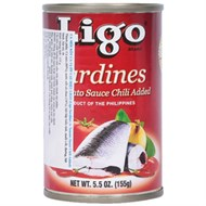 Cá mòi sốt cà vị cay Ligo 155g