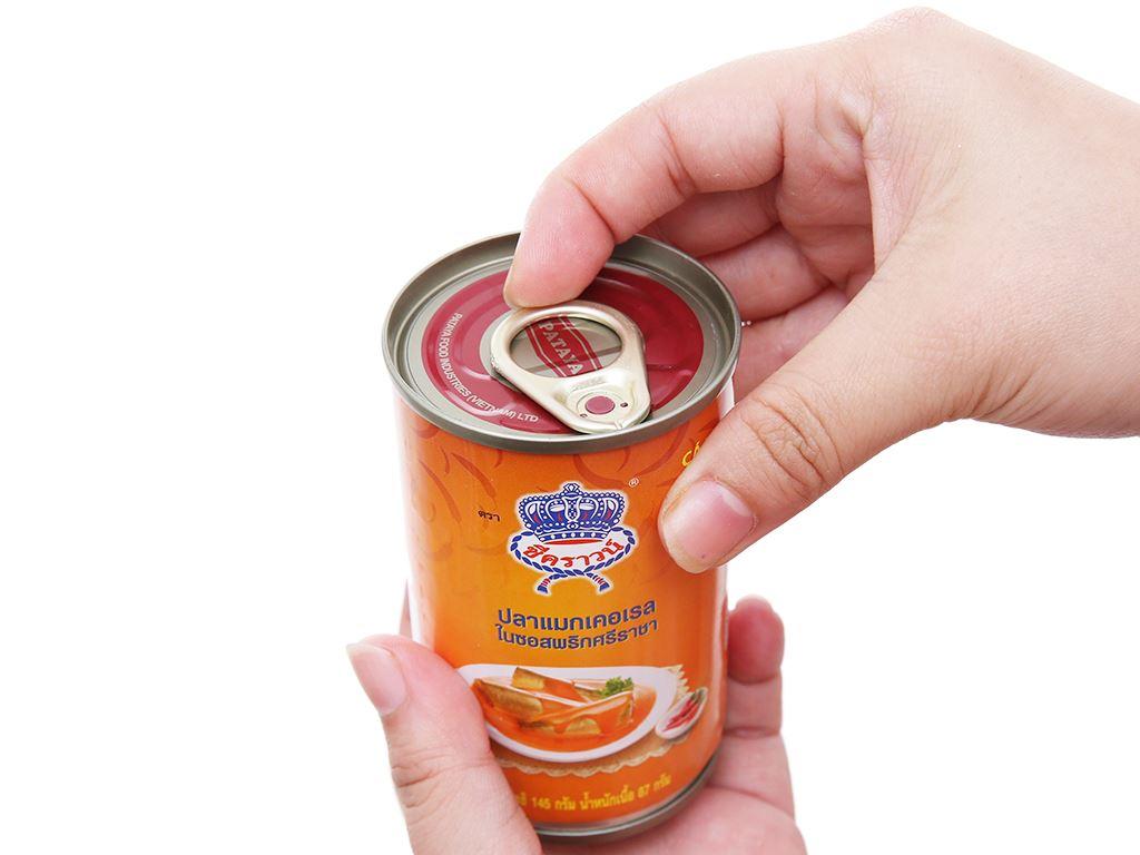 Cá nục sốt tương ớt Sriracha Sea Crown hộp 145g 3