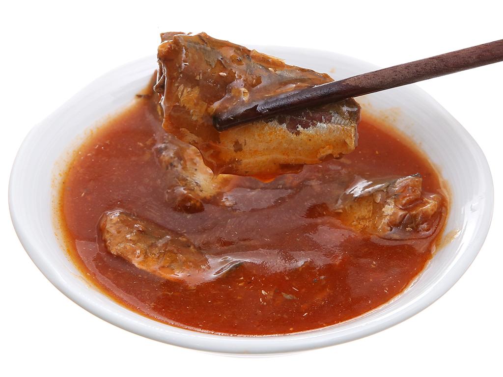 Cá thu sốt cà Pompui hộp 155g 4