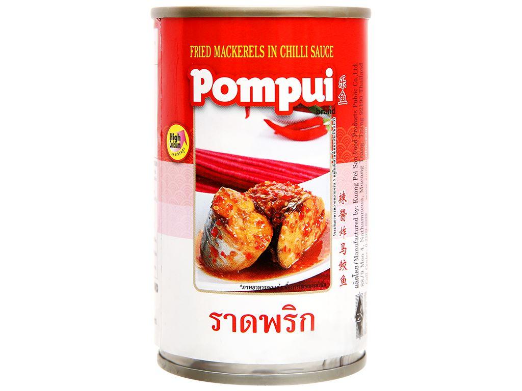 Cá thu chiên sốt tương ớt Pompui hộp 155g 1