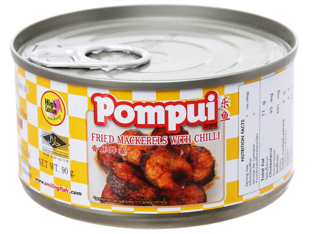 Cá thu chiên ớt Pompui hộp 90g 2