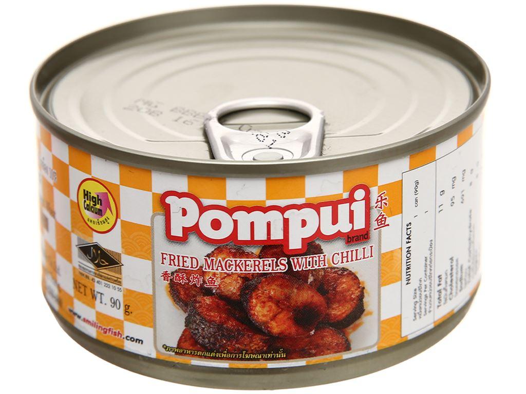 Cá thu chiên ớt Pompui hộp 90g 5