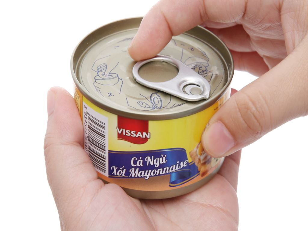 Cá ngừ xốt mayonnaise Vissan hộp 85g 4