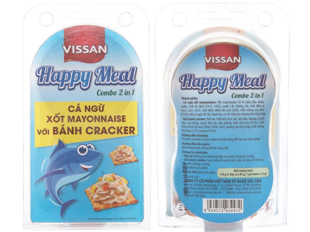 Cá ngừ xốt mayonnaise và bánh cracker Happy Meal Vissan hộp 110g 1