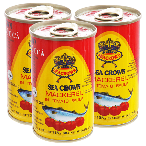 Combo 3 hộp Cá nục sốt cà Sea Crown 155g