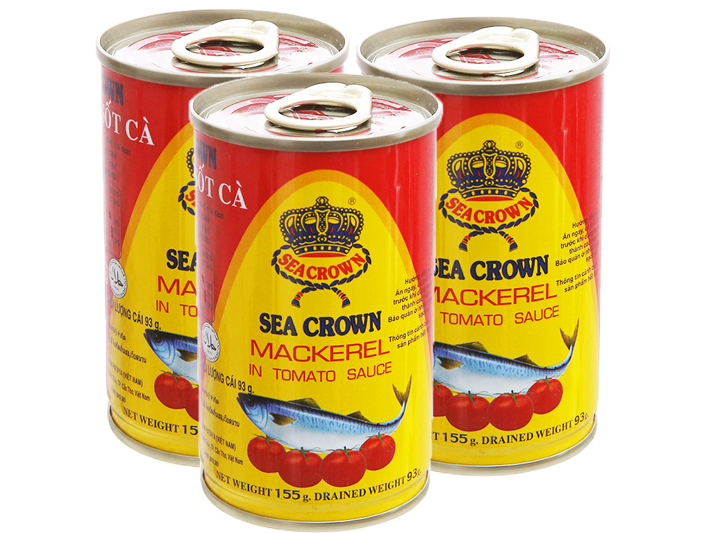 Cá nục sốt cà Sea Crown hộp 155g Sea Crown 1