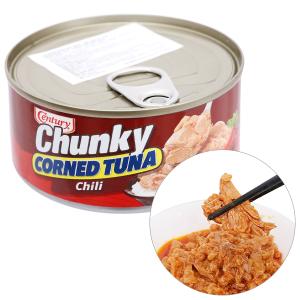 Cá ngừ khúc xốt gia vị cay Chunky Century hộp 180g