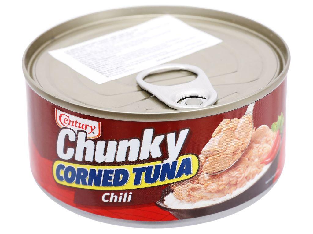 Cá ngừ khúc xốt gia vị cay Chunky Century hộp 180g 2