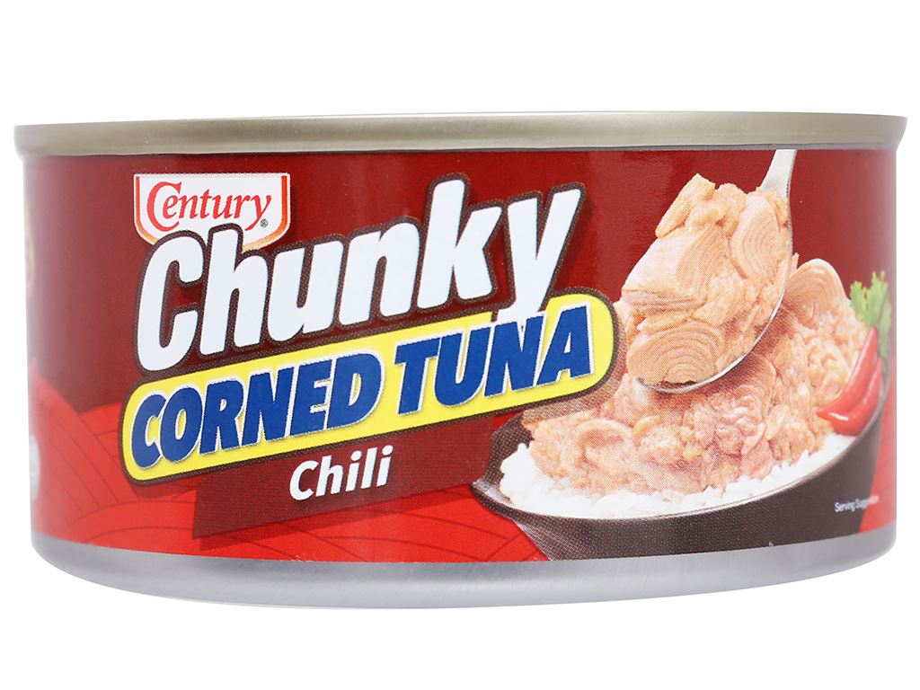 Cá ngừ khúc xốt gia vị cay Chunky Century hộp 180g 3