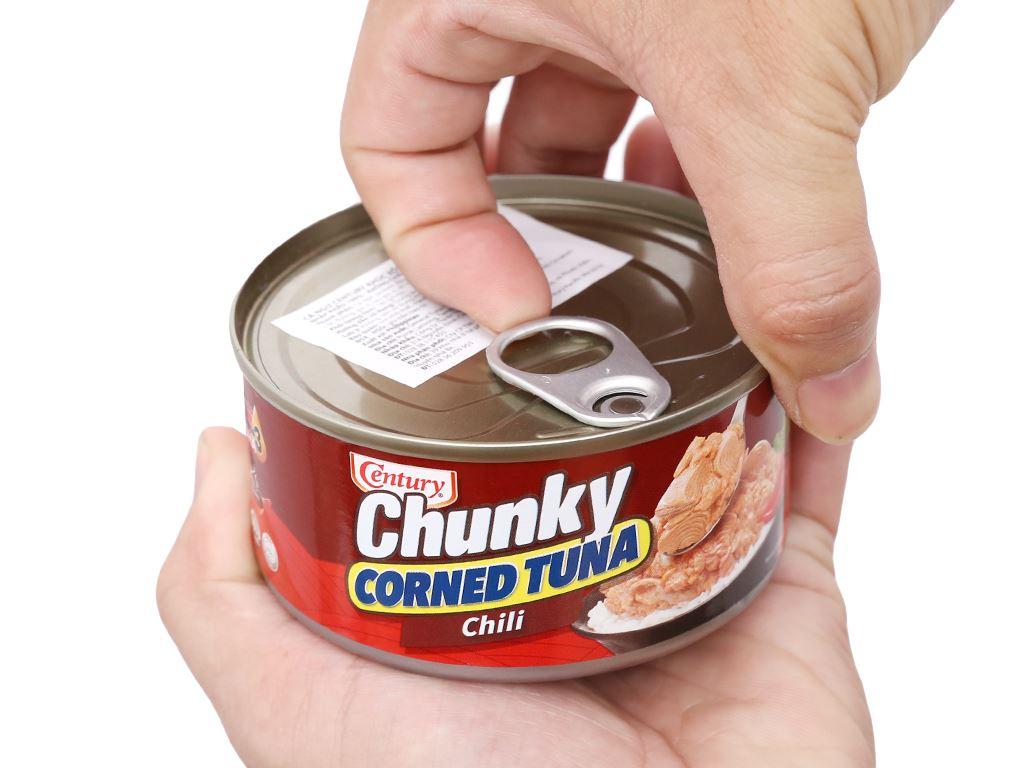 Cá ngừ khúc xốt gia vị cay Chunky Century hộp 180g 7