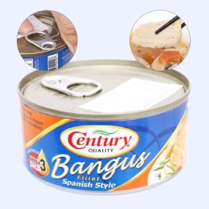 Cá măng sữa xốt Tây Ban Nha Bangus Century hộp 184g