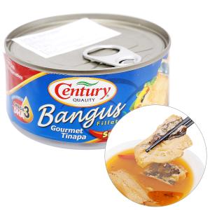 Cá măng sữa vị xông khói Bangus Century hộp 184g