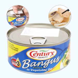 Cá măng sữa ngâm dầu Bangus Century hộp 184g