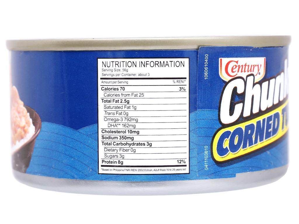 Cá ngừ khúc xốt gia vị Chunky Century hộp 180g 4