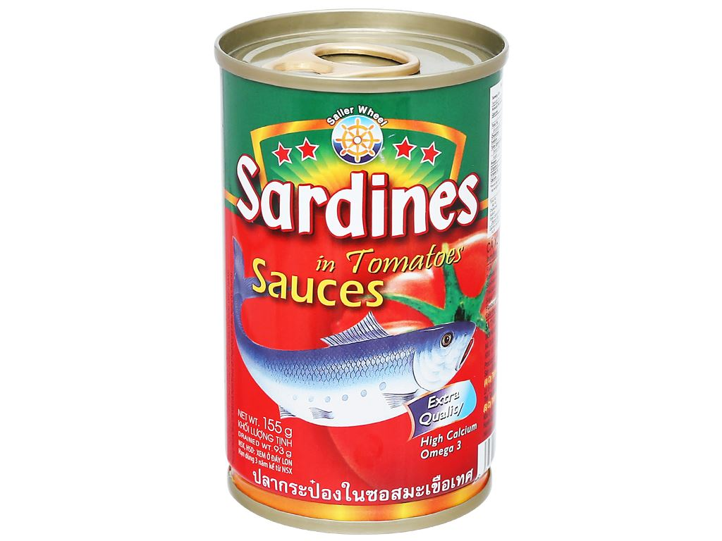 Cá xốt cà Sardines Sailer Wheel hộp 155g 2