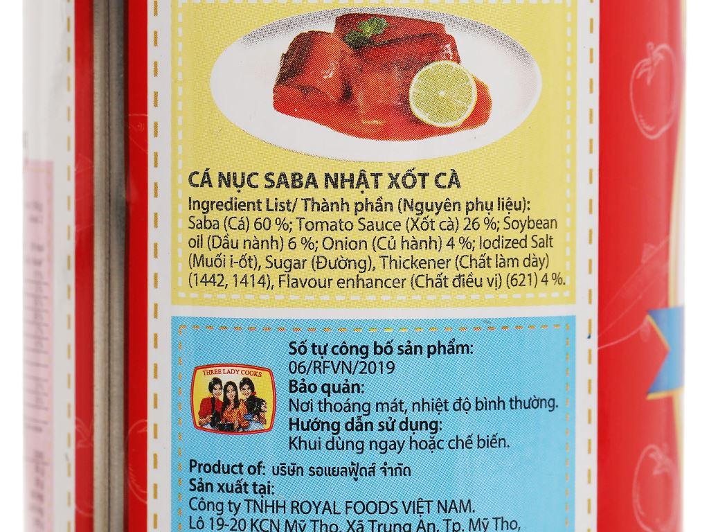Cá saba Nhật xốt cà 3 Cô Gái hộp 300g 5