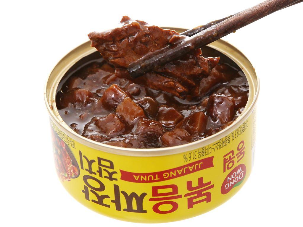Cá ngừ sốt tương đen Dongwon lon 150g 5