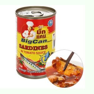 Cá mòi sốt cà chua Bigcan lon 140g