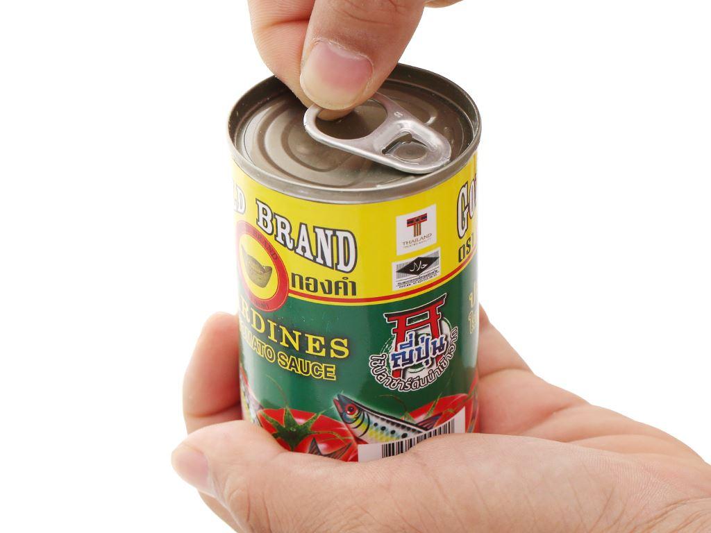 Cá mòi sốt cà chua Gold Brand lon 155g 6