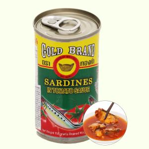 Cá mòi sốt cà chua Gold Brand lon 155g