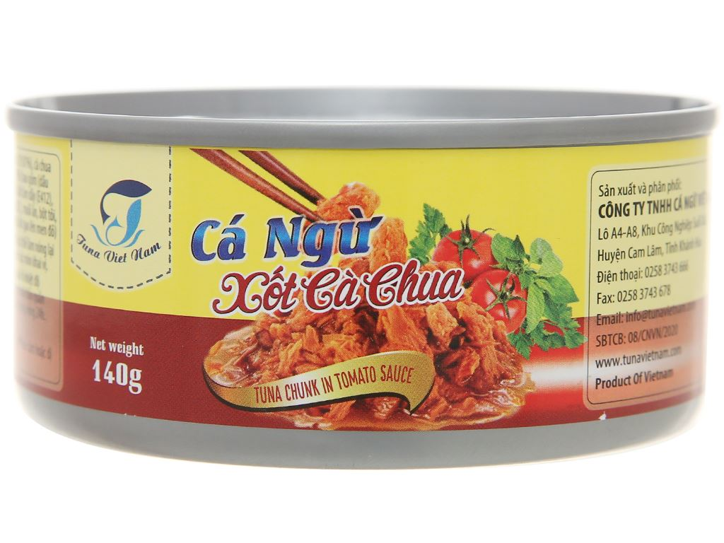 Cá ngừ xốt cà chua Tuna Việt Nam lon 140g 1