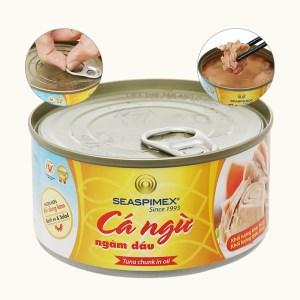 Cá ngừ ngâm dầu Seaspimex hộp 185g