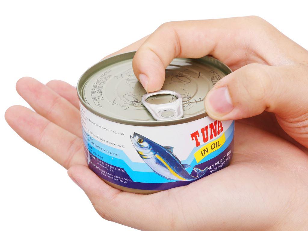 Cá ngừ xốt dầu Vissan hộp 170g 7