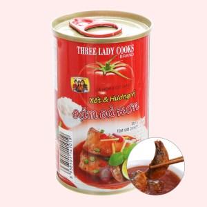 Cá mòi xốt cà chua nắp giật 3 Cô Gái hộp 155g (vị đậm đà)