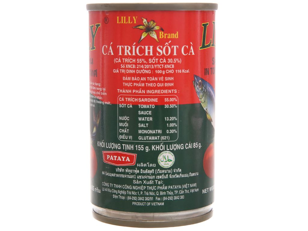 Cá trích sốt cà Lilly hộp 155g 2
