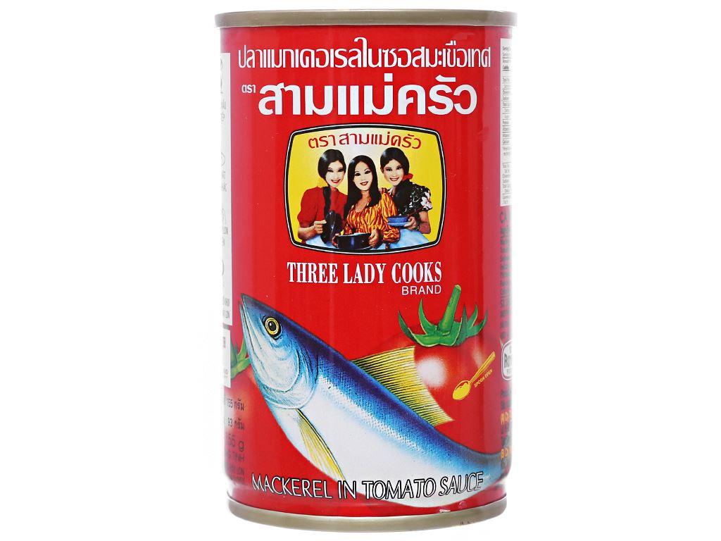 Cá nục xốt cà 3 Cô Gái hộp 155g 2