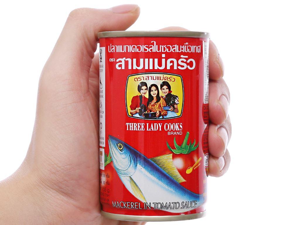 Cá nục xốt cà 3 Cô Gái hộp 155g 4