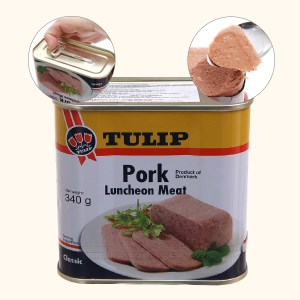 Thịt heo Pork Luncheon Meat Classic Tulip hộp 340g