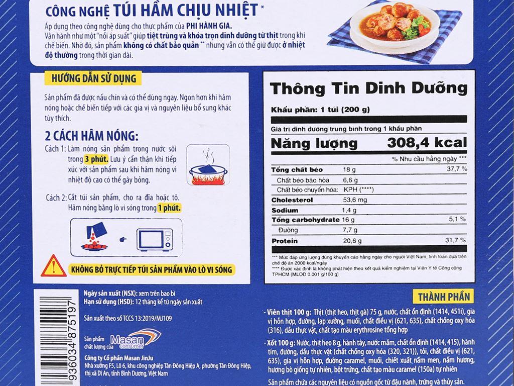 Thịt heo viên 3 phút Heo Cao Bồi Masan hộp 200g 8