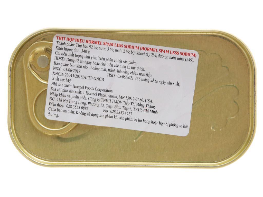 Thịt heo ít muối Hormel Foods hộp 340g 3