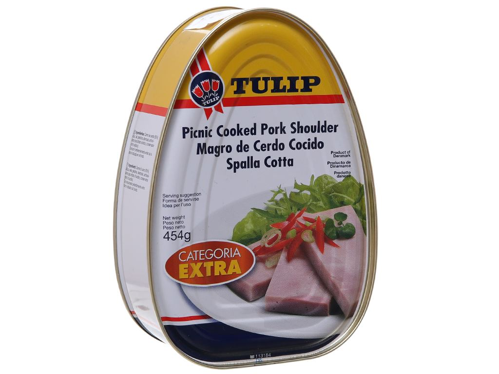 Thịt vai heo Picnic Shoulder Categoria Extra Tulip hộp 454g 2