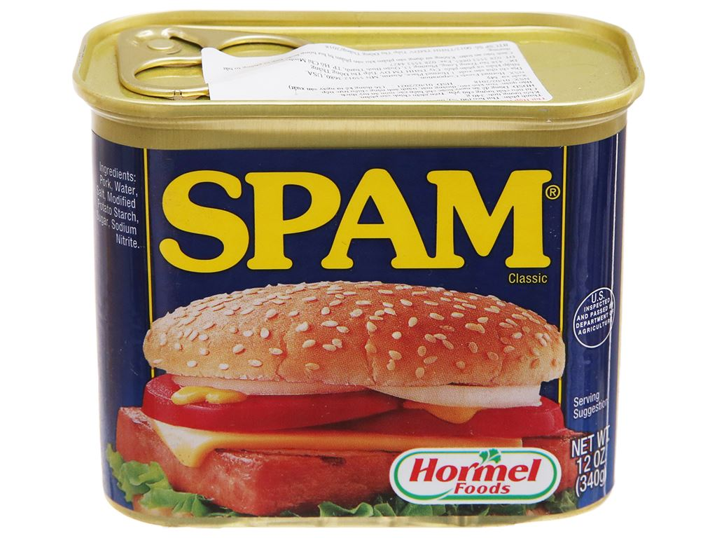 Thịt heo Spam Classic Hormel Foods hộp 340g 1