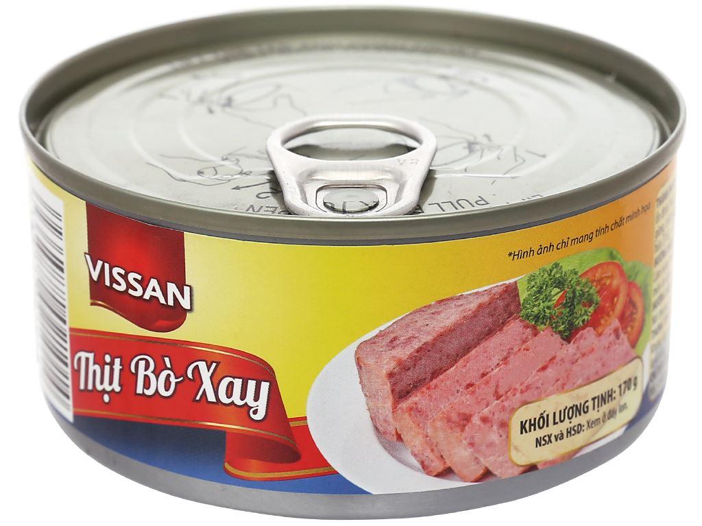 Bò xay Vissan hộp 170g 1