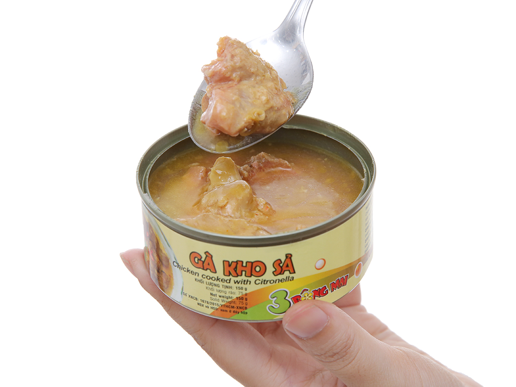 Gà kho sả 3 Bông Mai Vissan hộp 150g 4