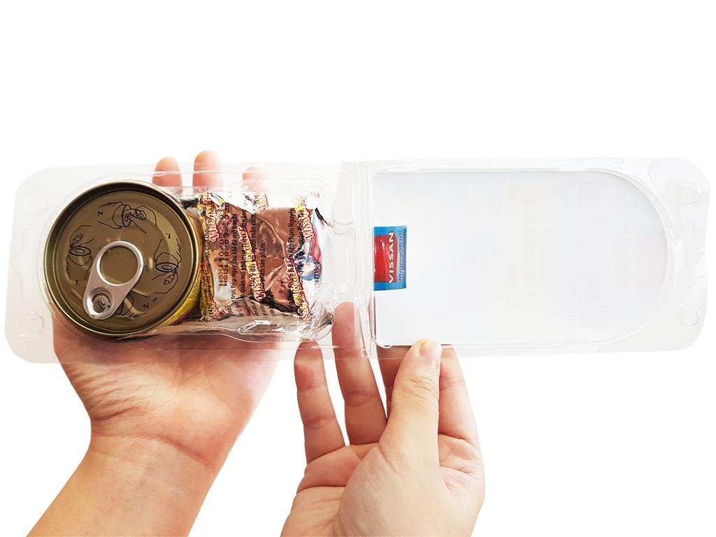 Thịt gà xốt mayonnaise và bánh cracker Happy Meal Vissan hộp 110g 3