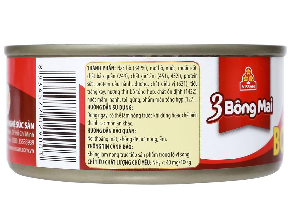 Bò hai lát 3 Bông Mai Vissan hộp 150g 8