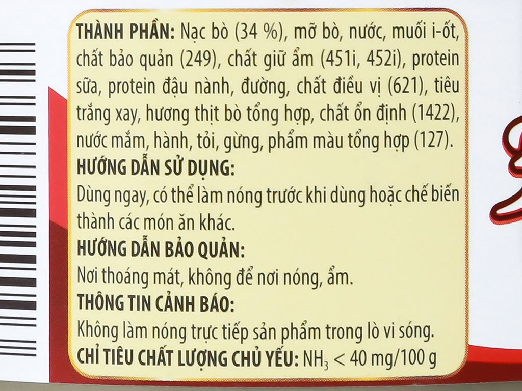 Bò hai lát 3 Bông Mai Vissan hộp 150g 9